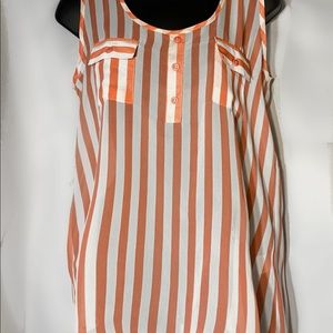 Women's Sheer Sleeveless Blouse Size Large